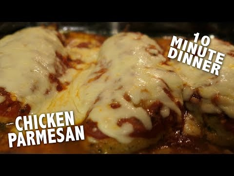 Quick and Easy Chicken Parmesan || 10 Minute Dinner