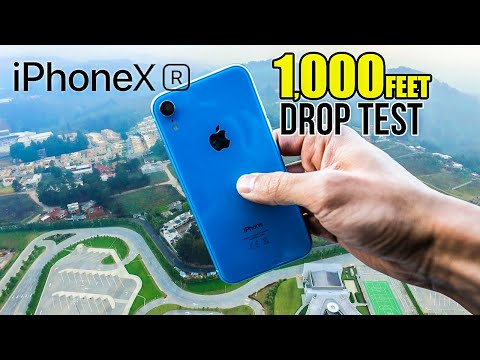 iPhone Xr DROP TEST - From 1000ft high!   in 4K