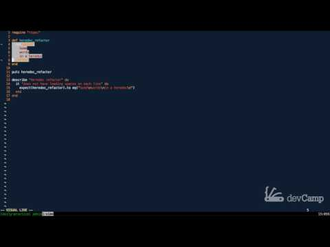 How to Use Indention with Multiline Strings with the Squiggly Heredoc Syntax