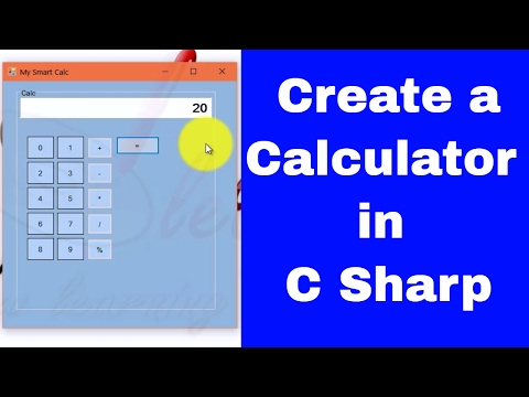 How to Make a Calculator in C Sharp | Windows Form Application | Vineet Agrawal
