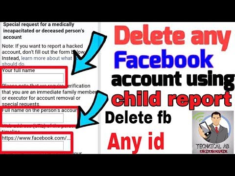 How to delete Facebook account using child report 2018 | delete Facebook account |