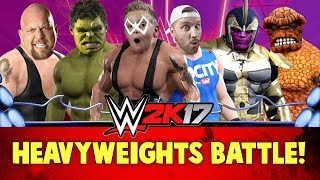 WWE 2k17 Heavyweights Battle Royal with Marvel Avengers & Batman Super Heroes