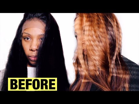 HOW TO LIGHTEN WITHOUT BLEACH! RICH CHOCOLATE WITH CHUNKY CARAMEL HIGHLIGHTS QUICK CUSTOM COLORING