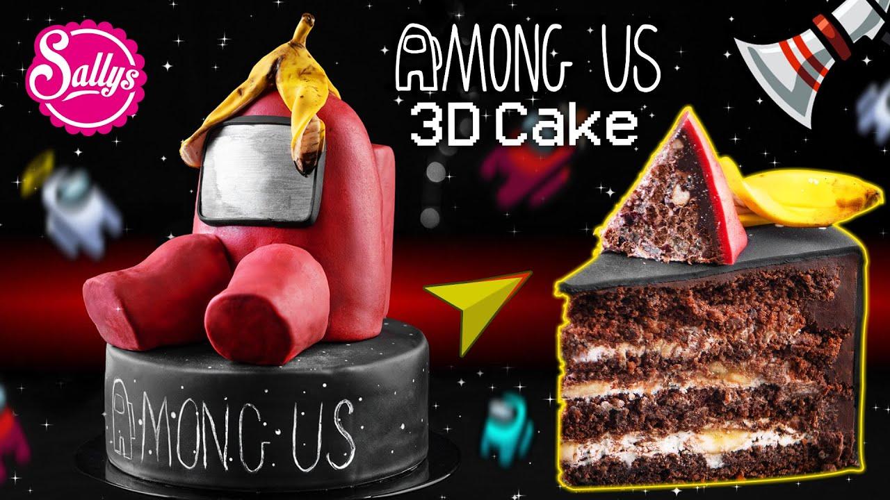 Among us 3D Motivtorte / Fondant cake / Sallys Welt