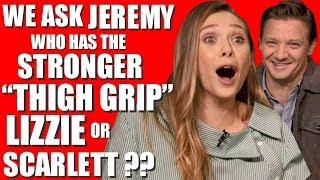 ELIZABETH OLSEN INTERVIEW gets CRAZY with JEREMY RENNER for WIND RIVER