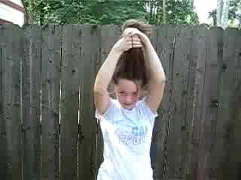 water bottle hair trick