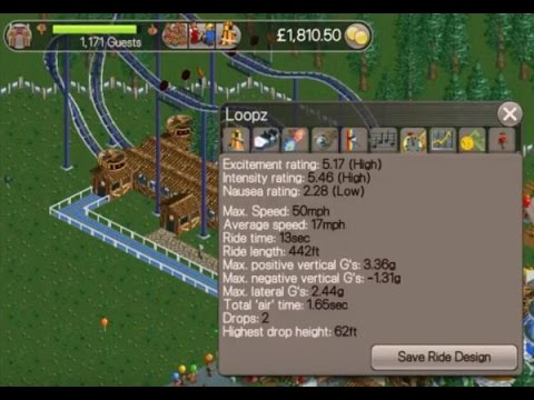 Roller Coaster Tycoon Classic - Coaster Tutorial - Loopz