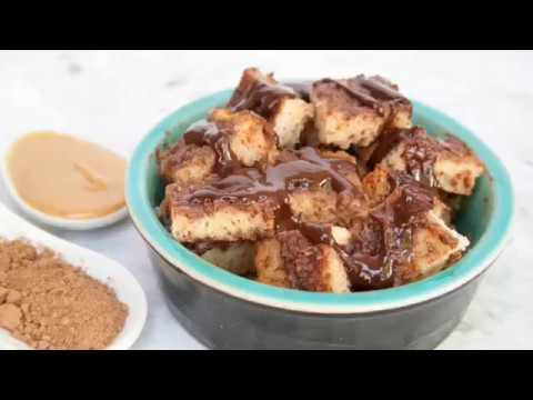 Chocolate Peanut Butter Microwave Bread Pudding