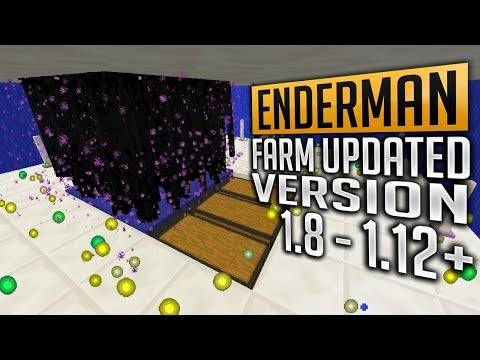 Tutorial Enderman Farm Max XP for 1.8 - 1.12.2 (Updated version) Minecraft