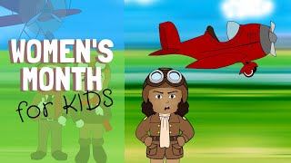 Women's Month 2020 for Kids: Women's History Month w/ Bessie Coleman, Mae Jemison & Gwendolyn Brooks