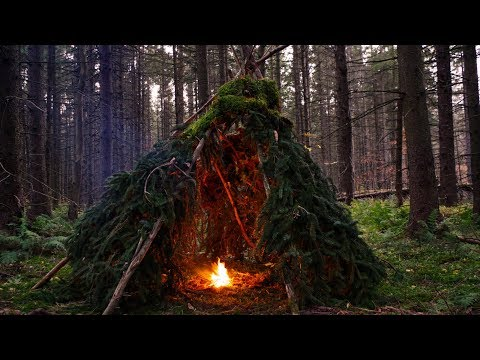 Bushcraft Camping: Building a Wikiup Shelter