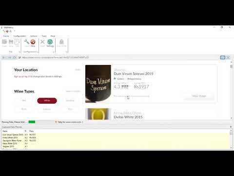 Vivino data extraction | Webharvy | Scroll to Load