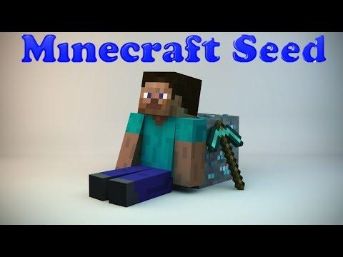 Minecraft 1.7.2/1.7.4 Seed: NPC Village, TRIPLE Ravine, Desert Temple, Amazing Landscape