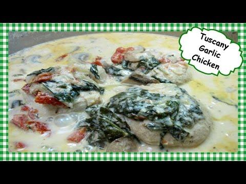 Creamy Tuscan Garlic Chicken ~ One Pot Chicken Dinner Recipe