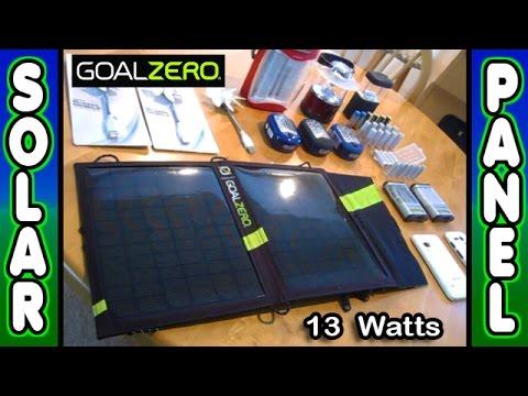 Small SOLAR PANEL Kit Portable GoalZero Nomad 13 Guide10Plus power SHTF