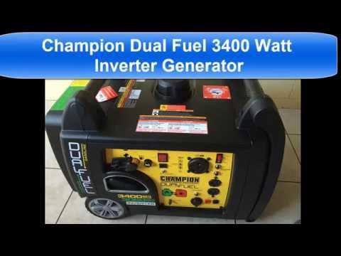 Champion 3400 watt dual fuel Power Inverter Generator