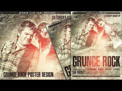 Create a Grunge Rock Poster Design in Photoshop