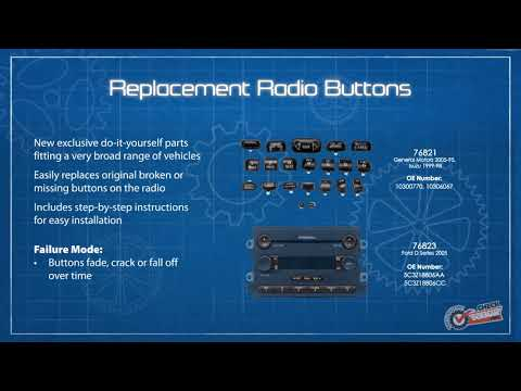 1995-2005 GM Isuzu Black Direct Replacement Radio Buttons Knobs