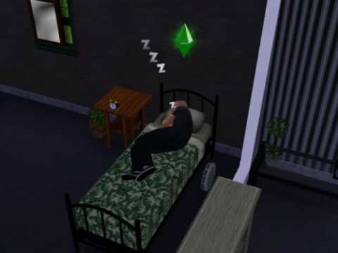 Sims 3- My Sim Sleeping