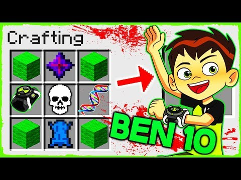 Minecraft Ben 10 - How to Summon BEN 10 in Crafting Table!