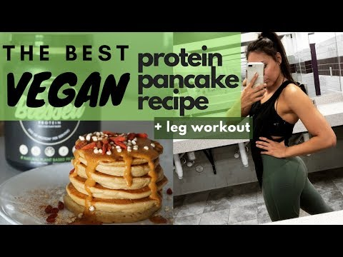 The BEST Vegan Protein Pancake Recipe | Blessed Protein & Quick Leg Workout