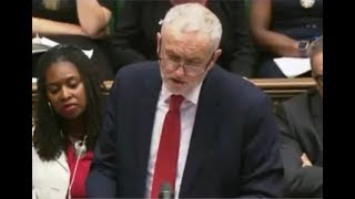 Jeremy Corbyn and Theresa May clash over Windrush Generation at PMQs