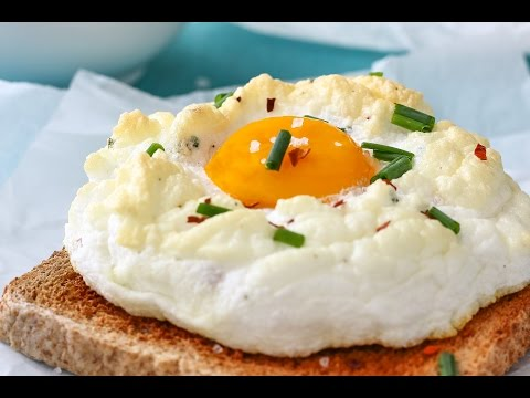 How to make Cloud Eggs (Eggs on a Cloud)   Happy Foods Tube
