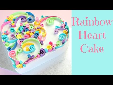How To Make A Rainbow Heart Cake - CAKE STYLE