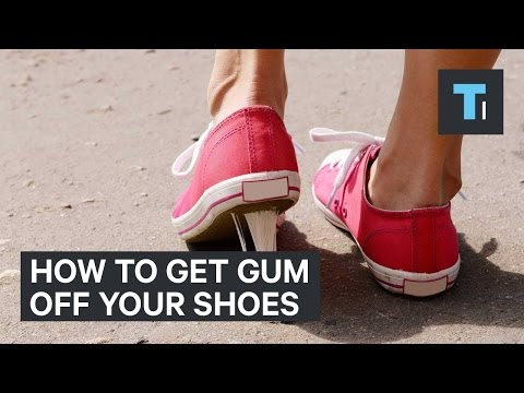 How to get gum off your shoes