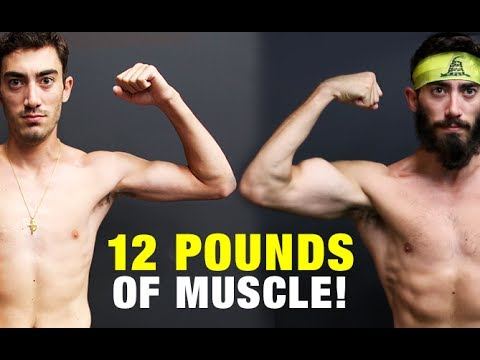 Muscle Building Body Transformation (GAINED 12 LBS!)