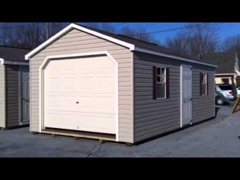 Prebuilt single car garage