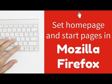 Setting your homepage and start page in Mozilla Firefox