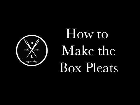 How to Make the Box Pleats
