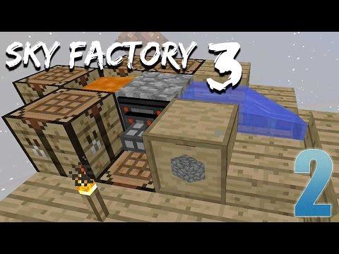 Auto Cobblestone Generator!!!! - FTB Sky Factory 3  - Ep. 2