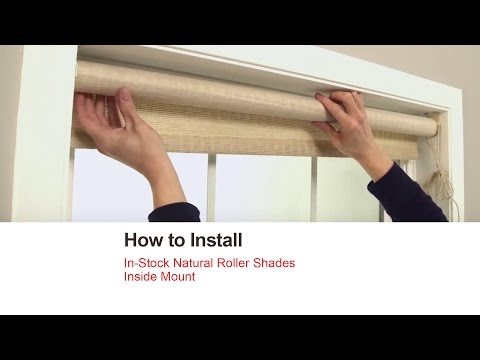 Bali Blinds | How to Install In-Stock Natural Roller Shades - Inside Mount