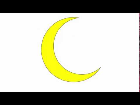 Crescent moon - Adobe Illustrator cs6 tutorial. Quick and easy way to draw basic shape