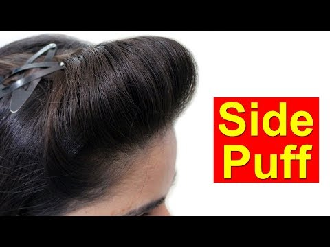 Side Puff for Thin Hair | Quick & Easy Hairstyles with Puff