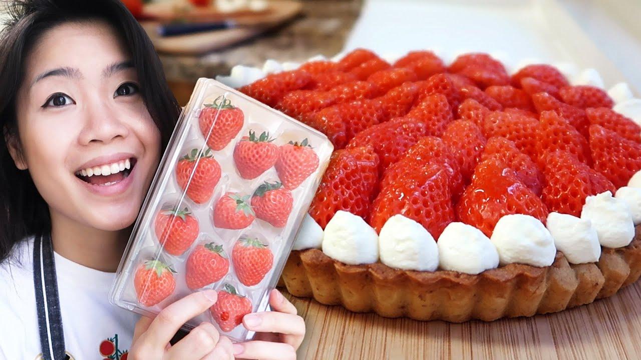 I Made Fresh Strawberry Cheesecake Tart From Scratch