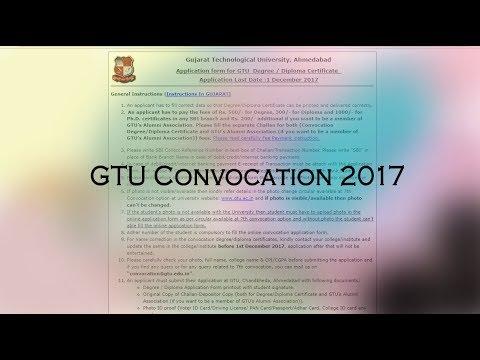GTU Degree/Diploma Convocation online form filling procedure: 2017 Passouts