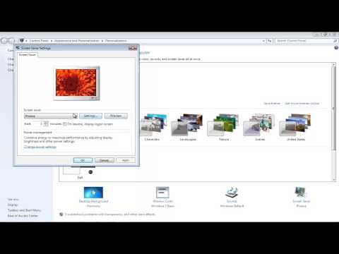 How to Disable Screen Saver in Windows 7