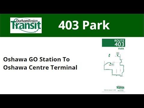 DRT 2018 NovaBus LFS #8581 On 403 Park (Oshawa GO To Oshawa Centre Term - Full)