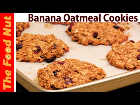 Banana Oatmeal Cookies Recipe - Vegan, Healthy, Peanut Butter & NO Sugar & NO Dairy | The Food Nut