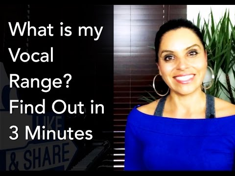 How To Sing: What is my Vocal Range? Find out in 3 minutes!