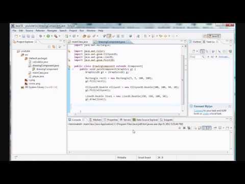 Java Programming - 23 - Graphics/Shapes