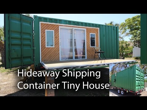 Hideaway Shipping Container Tiny House at St Pete Ecovillage