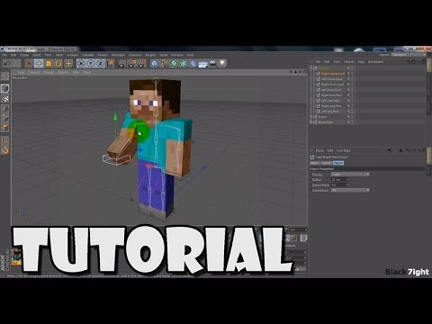 [Cinema4D Tutorial] 2. Minecraft Character Joint