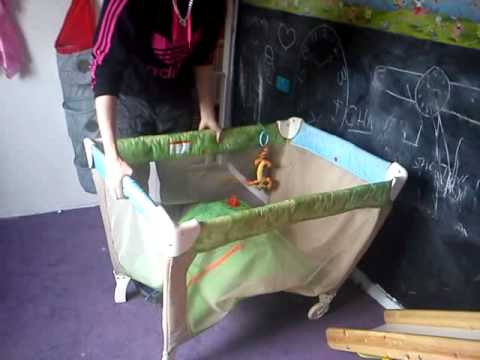 How to put up a travel cot and down again