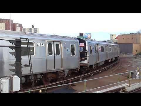 IND Culver Line: Manhattan-bound R160A F Train@Coney Island