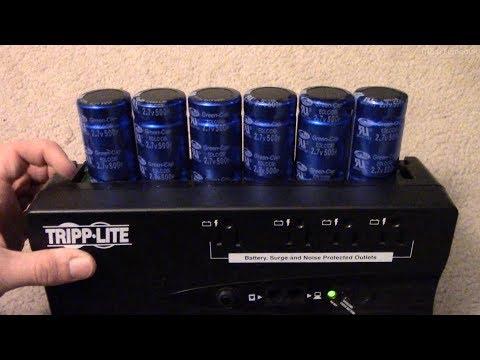 Supercapacitor Conversion of a Tripp-Lite UPS