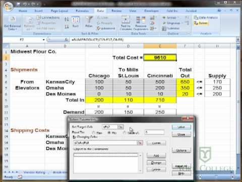 Using Excel Solver